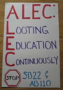 ALEC legislative shenanigans in Wisconsin